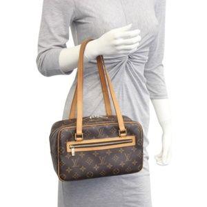 Auth Louis Vuitton Cite Mm Brown Hand #1598L23